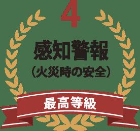 4感知警報(火災時の安全)最高等級