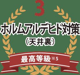 3ホルムアルデヒド対策(天井裏)最高等級※5